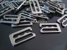 6pcs Silver Buckle Clasp 13mm - Finding Silver Flat Leather Cord Bracelet Clasp Rectangle Slide Connector 18mm x 10mm    Colour : Silver  Size : 18mm x