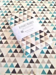 Organic Cotton Jersey Swaddle Blanket..Teepee by AlphabetMonkey, $40.00