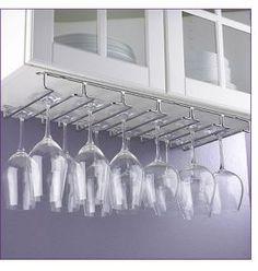 Large Under Cabinet Hanging Stemware Rack
