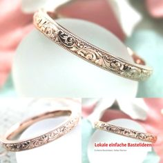 """The """"Papillon"""" vintage inspired hand-carved .- Das """"Papillon"""" Vintage inspirierte handgeschnitzte Band The """"Papillon"""" vintage inspired hand carved ribbon - Wedding Rings Vintage, Gold Wedding Rings, Vintage Engagement Rings, Wedding Jewelry, Antique Wedding Bands, Vintage Weddings, Engraved Engagement Rings, Unique Vintage Rings, Bridal Rings"""