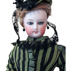 """Francois Gaultier Lady Doll - Size """"0""""- excellent body with stamped from aliceandcecils on Ruby Lane"""