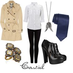 Castiel Outfit-- lolz that someone made this. But I like those shoes.
