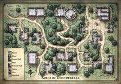 Ruínas de Thundertree - Mapa dos Jogadores