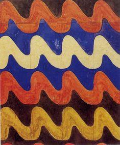 Waves textile design by Charles Rennie Mackintosh, 1915