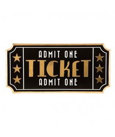 Movie Ticket Wood Wall Decor