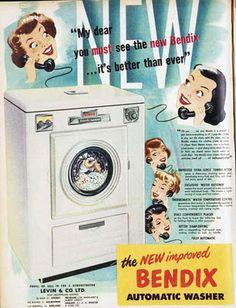Vintage Bendix Washers Ad