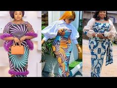 AFRICAN FASHION CLOTHING: 100+ IMPECCABLE AND BEAUTIFUL ASO EBI / LACE S... Long Ankara Dresses, Ankara Skirt And Blouse, Ankara Gown Styles, Ankara Gowns, Blazer Fashion, Fashion Outfits, Aso Ebi Lace Styles, African Design, African Fashion Dresses