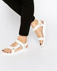 Женские сандалии Teva Original Universal White Flat Sandals