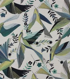 Richloom Fabrics Fabric-Hummingbird Peacock