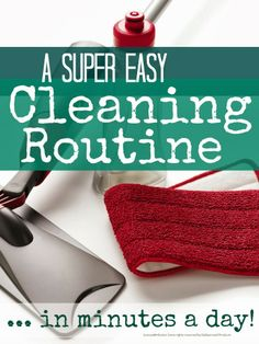 A simple daily cleaning routine to keep the house in order in minutes a day @Maaike Boven make lists ... #housework