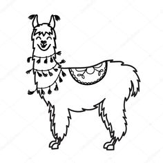 Alpacas, Animal Drawings, Cool Drawings, Llama Drawing, Pyrography Designs, Craft Presents, Silhouette Fonts, Black And White Drawing, Cute Characters