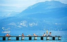 The resort of Sirmione in Lake Garda remains popular today, with visitors able to sunbathe on the pier