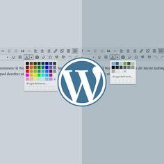WordPress' visuelle editor kommer med en masse prædefinerede tekstfarver, som du kan benytte, når du opsætter nye eller redigerer eksisterende…