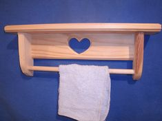 vintage wooden wall shelf heart cutout collectible gift wooden