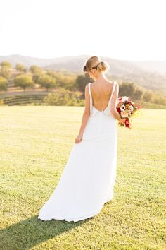 Backless Wedding Dress Silk, Ivory, Train, French Knot Couture
