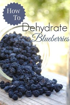 How To Dehydrate Blueberries | Cooke's Frontier | #prepbloggers #foodstorage #blueberries