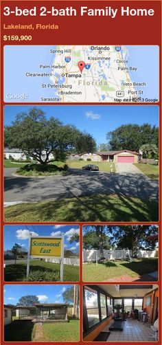 3-bed 2-bath Family Home in Lakeland, Florida ►$159,900 #PropertyForSale #RealEstate #Florida http://florida-magic.com/properties/92647-family-home-for-sale-in-lakeland-florida-with-3-bedroom-2-bathroom