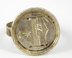 Ancient Medieval Silver Antique Signet or Seal Crusaders Ring Size Q - The Collectors Bag Roman Jewelry, Crusaders, Ancient Romans, Antique Rings, Seal, Medieval, Jewellery, Personalized Items, Antiques