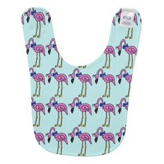 Pink Flamingos with a Bow Tie Baby Bib