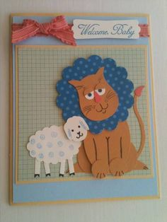 Lion and Lamb by Gosia Hoot - Cards and Paper Crafts at Splitcoaststampers