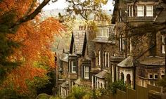 Terrace houses in Ilkley England
