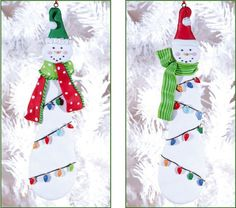 $15.84-$19.01 Dough Snowman Ornament 2 Assorted - Add warmth and whimsy to the room, whether tucked within the branches of your Christmas tree or hanging upon the wall. Perfect to use year after year, these pieces are enchanting. http://www.amazon.com/dp/B005HAUDX2/?tag=pin2wine-20