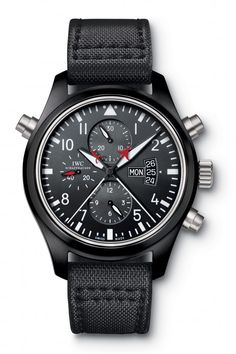 IWC Pilots Watch Double Chronograph Edition Top Gun -- This is sooooo bad ass, and what else do you have to spend $10k on?