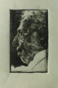 "Andreas Vanpoucke "" Arthur Rubinstein "" Dry point"