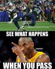 Kobe Bryant's thoughts on the Seahawks' PASS attempt. #Patriots #SB49 - http://nbafunnymeme.com/nba-memes/kobe-bryants-thoughts-on-the-seahawks-pass-attempt-patriots-sb49