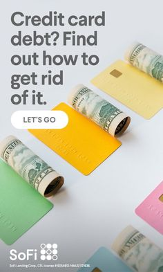 How to get rid of credit card debt.