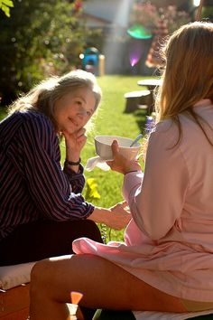 the beauty of a homebirth...   labouring in the early morning sun, in the garden, with a loving midwife.