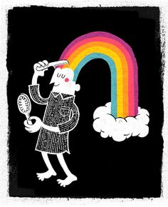 Every night, I comb my rainbow by Esther Aarts, via Flickr