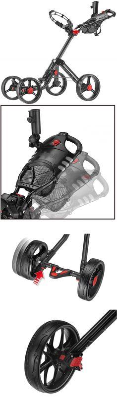 Push-Pull Golf Carts 75207: Caddytek Superlite Explorer 4 Wheel Golf Push Cart, Dark Grey -> BUY IT NOW ONLY: $110.27 on eBay!