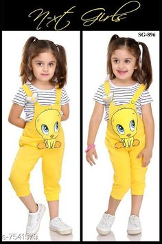 Jumpsuits Cotton Dungaree For Girls   Fabric: Cotton Sleeve Length: Short Sleeves Pattern: Self Design Multipack: 1 Sizes:  4-5 Years Country of Origin: India Sizes Available: 0-6 Months, 3-6 Months, 6-9 Months, 6-12 Months, 9-12 Months, 12-18 Months, 18-24 Months, 0-1 Years, 1-2 Years, 2-3 Years, 3-4 Years, 4-5 Years, 5-6 Years, 6-7 Years, 7-8 Years   Catalog Rating: ★4.3 (774)  Catalog Name: Pretty Stylus Kids Girls Dungarees & Jumpsuits CatalogID_1217608 C62-SC1156 Code: 848-7541579-9042