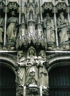 Cathedral of St. Michael the Arch Angel in Brussels, Belgium