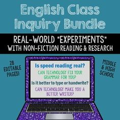 English Class Inquiry Projects - Is speed reading real? - Can technology fix your grammar? - Is it better to type or handwrite? - Can technology make you a better writer?