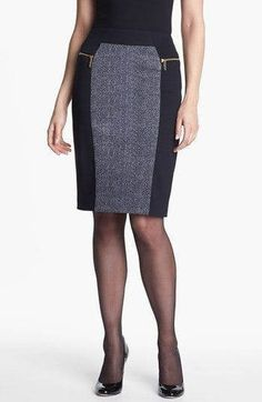 Michael Kors OFF! MICHAEL Michael Kors Colorblock Ponte Skirt available at Classic with a twist! Midi Skirt Outfit, Skirt Outfits, Classy Outfits, Stylish Outfits, Fashion Outfits, Classic Style Women, Fashion Sewing, Work Attire, Work Wear
