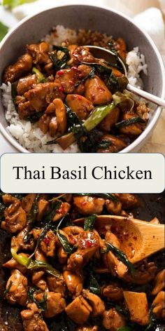 The Best Food & Drink in the World Thai Basil Chicken Thai Basil Chicken is arguably the gold standard of Thai Chicken stir fries! An incredibly fast and easy Thai recipe that truly tastes just as good as you'll get at your favourite restaurant Easy Thai Recipes, Thai Chicken Recipes, Thai Basil Chicken, Healthy Dinner Recipes, Breakfast Recipes, Cooking Recipes, Vegan Recipes, Recipes With Basil, Beef