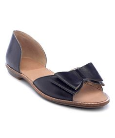 Another great find on #zulily! Black Moka Leather D'Orsay Flat #zulilyfinds