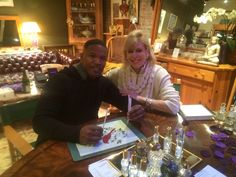 Jamie Foxx with Sue Phillips creating a Custom Scent  at The Scentarium.  Great guy! Thrilled to have met him!