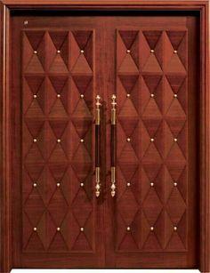 Artistic Wooden Door Design Ideas To Try Right Now 19 Wooden Double Doors, Modern Wooden Doors, Custom Wood Doors, Double Front Doors, Wooden Front Doors, Rustic Doors, Main Entrance Door Design, Wooden Front Door Design, Double Door Design