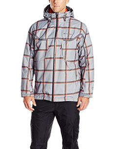 Mens plaid rain jacket