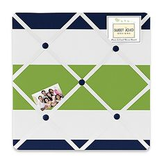 Sweet Jojo Designs Navy Blue, Lime Green and White Fabric Memory/Memo Photo Bulletin Board for Stripe Collection Navy Blue Bedding, Fabric Memo Boards, Green Wall Decor, Childrens Beds, Navy And Green, Green Stripes, Classroom Decor, Nursery Decor, Nautical Nursery