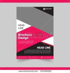 Business Brochure Template simple and Elegant, for cover, annual report and presentation - buy this vector on Shutterstock & find other images.