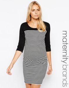 142f2c02b96a Mamalicious+Stripe+Dress+With+Zip+Back Vestiti Premaman