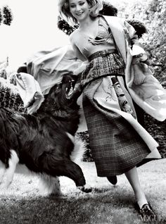 Jennifer Lawrence, Photographed by Bruce Weber, Vogue, March 2013. This is just kind of random.