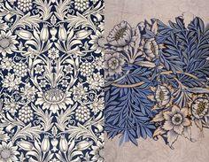 William Morris - Sunflower wallpaper - Tullip and Willow