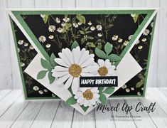 Hi everyone, today I'm sharing this pretty Arrow Fold Card. I first made this fun fold style in x just over a year ago, and it has been so well received that I decided to share a new x size. I shared this x size during my live cardmaking… Fun Fold Cards, Pop Up Cards, Folded Cards, Your Cards, Card Making Tutorials, Card Making Techniques, Making Cards, Shaped Cards, Unique Cards
