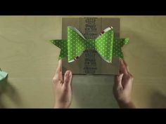 Gift Bow Bigz L Die - YouTube  Order this die now for your Christmas projects at    susanyeager.stampinup.net #129977