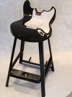Black guitar stool